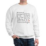 Mesothelioma Cancer Words Sweatshirt