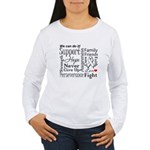 Mesothelioma Cancer Words Women's Long Sleeve T-Sh