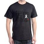 Mesothelioma Cancer Words Dark T-Shirt