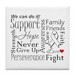 Mesothelioma Cancer Words Tile Coaster