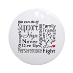 Mesothelioma Cancer Words Ornament (Round)