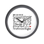 Mesothelioma Cancer Words Wall Clock