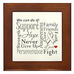 Mesothelioma Cancer Words Framed Tile