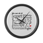 Mesothelioma Cancer Words Large Wall Clock