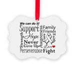 Mesothelioma Cancer Words Picture Ornament