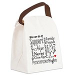 Mesothelioma Cancer Words Canvas Lunch Bag