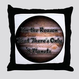Only 8 Planets Throw Pillow
