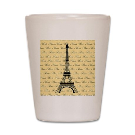 Yellow and Black Paris Eiffel Tower Shot Glass