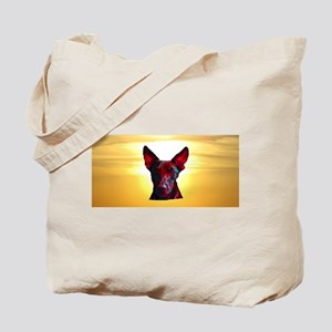 The Day Glow Dog at Sunset Tote Bag