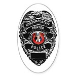 Prayer Police Oval Sticker