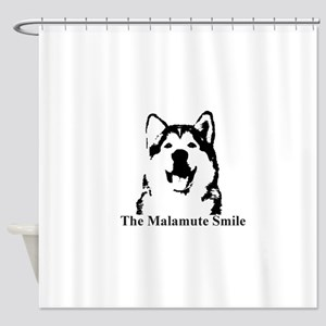 The Malamute Smile Shower Curtain