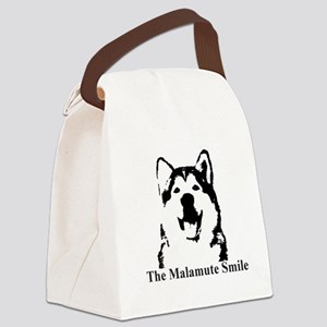 The Malamute Smile Canvas Lunch Bag