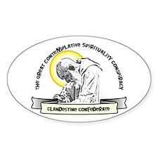 Contemplative Conspiracy Oval Sticker