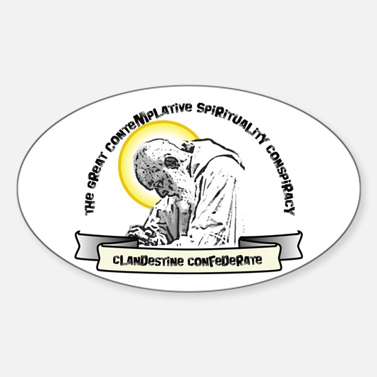 Contemplative Conspiracy Oval Decal