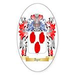 Agar Sticker (Oval 50 pk)