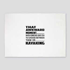 That Awkward Moment... Kayaking 5'x7'Area Rug