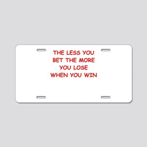 gamble Aluminum License Plate