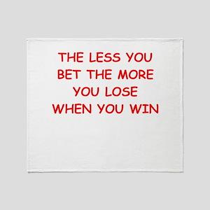 gamble Throw Blanket