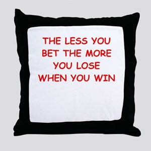 gamble Throw Pillow