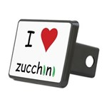 I Love Zucchini Rectangular Hitch Cover