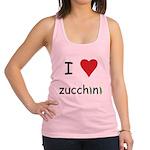 I Love Zucchini Racerback Tank Top