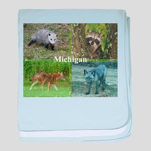 Michigan Animals baby blanket