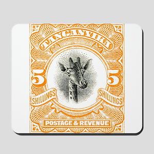 1922 Tanganyika Giraffe Stamp Orange Mousepad