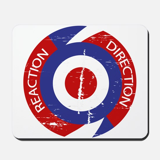 Reaction direction retro mod design Mousepad