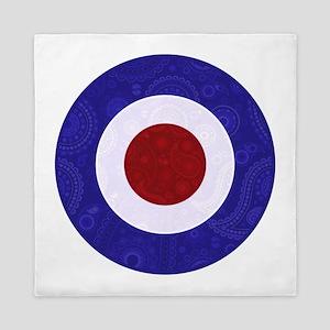 Paisley style mod target Queen Duvet