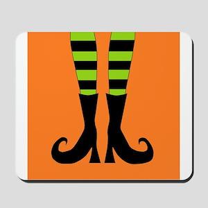 Halloween Witch Feet Mousepad
