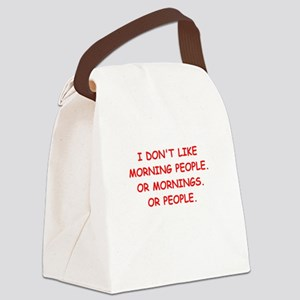 mornings Canvas Lunch Bag