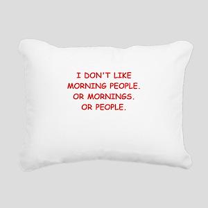mornings Rectangular Canvas Pillow