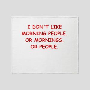 mornings Throw Blanket