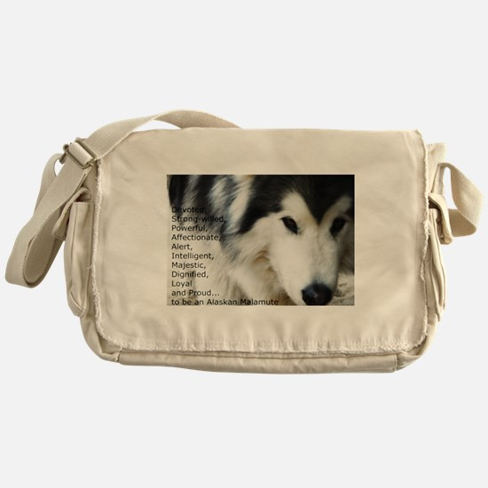 Proud to be a Malamute Messenger Bag