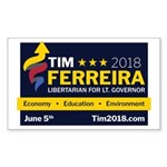 Tim 2018 - Sign Sticker (Rectangle 10 pk)