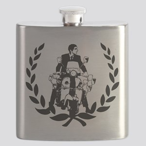 Retro Scooter Rider on Laurel Flask