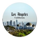 Los Angeles Round Car Magnet