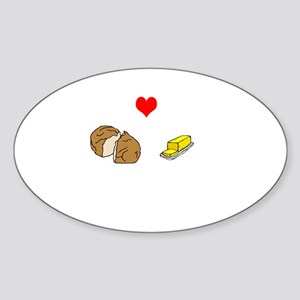 bread and butter Sticker (Oval)