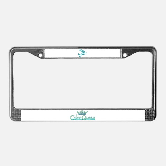 Color Queen License Plate Frame