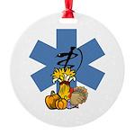 EMS Thanksgiving Round Ornament