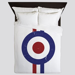 Aged and Faded Mod Target Stripes Queen Duvet