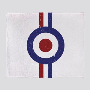 Aged and Faded Mod Target Stripes Throw Blanket