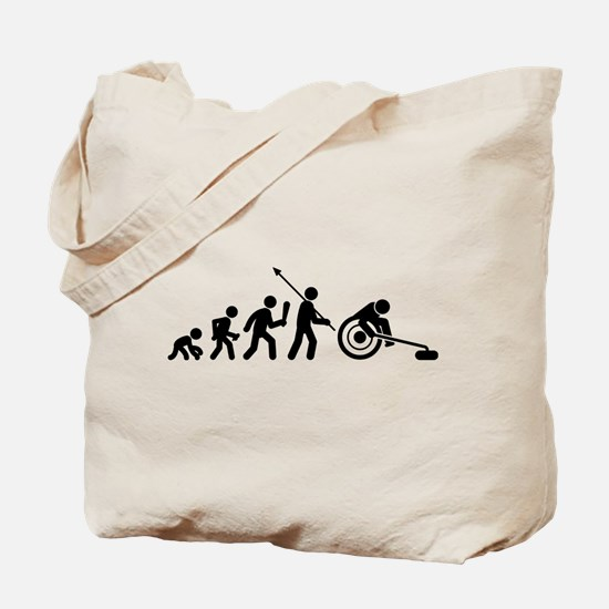 Wheelchair Curling Tote Bag
