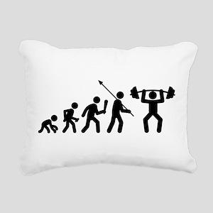 Weightlifting Rectangular Canvas Pillow