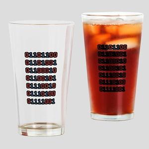 Liberty in Binary Drinking Glass
