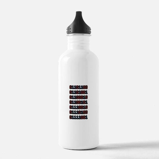 Liberty in Binary Water Bottle