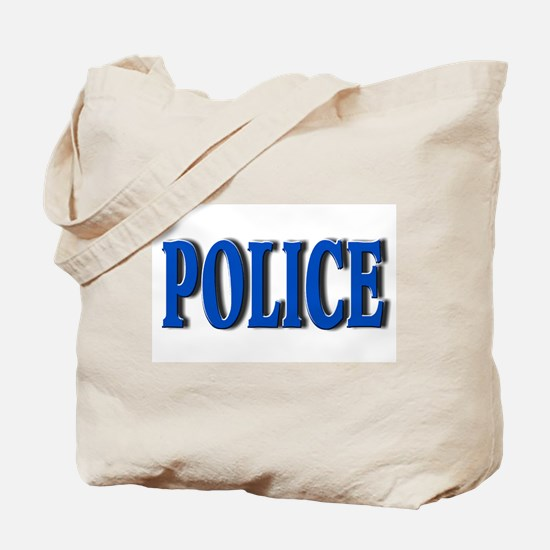 """Occupations Police White"" Tote Bag"