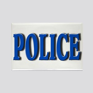 """""""Occupations Police White"""" Rectangle Magnet"""