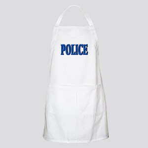 """Occupations Police White"" BBQ Apron"