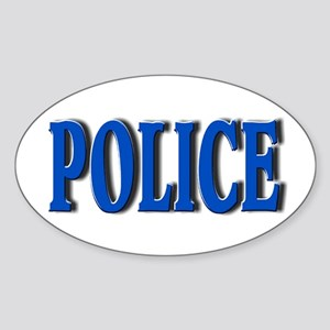 """""""Occupations Police White"""" Oval Sticker"""